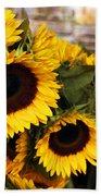 Dancing Sunflowers Beach Towel