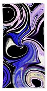 Dancing With The Swans Abstract Beach Towel