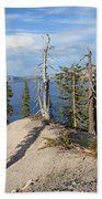 Dangerous Slope At Crater Lake Beach Towel