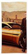 Daniel Craig As James Bond Beach Towel