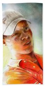 Danny Willett In The Madrid Masters Beach Towel