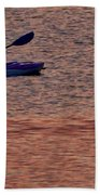 Danvers River Kayaker Beach Towel