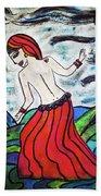 Danza De Mar Y Luna Beach Towel