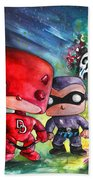 Funkos Daredevil And The Phantom In The Jungle Beach Towel