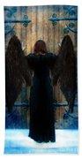 Dark Angel At Church Doors Beach Towel