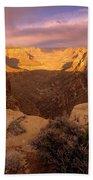 Dark Canyon Sunset Beach Towel