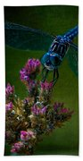 Dark Dragonfly Beach Towel