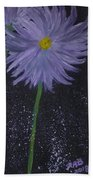Dark Floral  Beach Towel