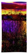 Dark Psychedelic Sunset Beach Towel