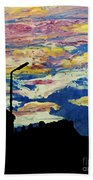 Dark Sunset Beach Towel