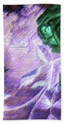 Dark Swan And Roses Beach Towel by Writermore Arts