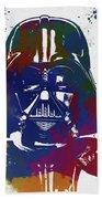 Darth Vader Paint Splatter Beach Towel