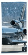 Dassault Falcon 900 Parking With Marshaller Beach Towel