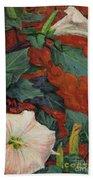 Datura Flower Beach Towel