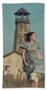 Daughter Of The Lighthouse Keeper Beach Towel