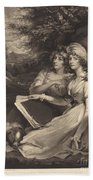 Daughters Of Sir Thomas Frankland Bart (the Sisters) Beach Towel