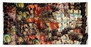 David Bowie Collage Mosaic Beach Towel