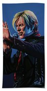 David Bowie Live Painting Beach Towel