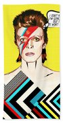 David Bowie Pop Art Beach Towel