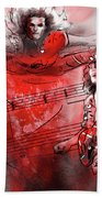 David Lee Roth And Eddie Van Halen Jump Beach Towel