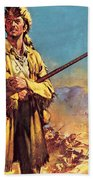 Davy Crockett  Hero Of The Alamo Beach Towel