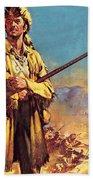 Davy Crockett  Hero Of The Alamo Beach Sheet