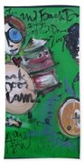 Davy Knowles And Back Door Slam Beach Towel by Laurie Maves ART