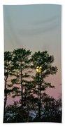 Dawn And Moon Setting - Virginia Beach Towel