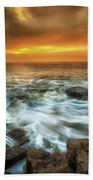 Dawn At Porthcawl Beach Towel