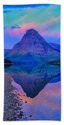 Dawn At Two Medicine Lake Beach Towel