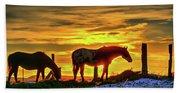 Dawn Horses Beach Towel