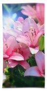 Day Light Lilies Beach Towel