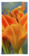 Day Lily Bright Beach Towel