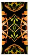 Day Lily Square Dance Beach Towel
