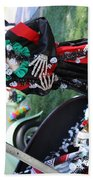 Day Of The Dead Car Trunk Skeleton  Beach Towel