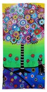 Day Of The Dead Cat'slife Beach Towel