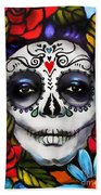 Day Of The Dead Beach Sheet