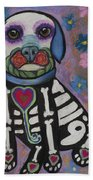 Day Of The Dead Hudson Beach Towel