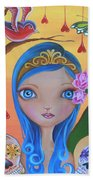 Day Of The Dead Princess Beach Towel