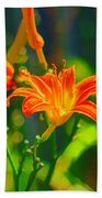 Daylily Trio Beach Towel