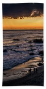 Days End At El Matador Beach Towel