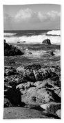 Dazzling Monterey Bay B And W Beach Towel