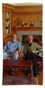Db6362 Ed Cooper With Fred Beckey In Library 2013 Beach Towel