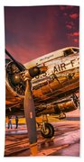 Dc-3 In Surreal Evening Light Beach Towel