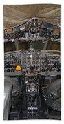De Havilland Dh106 Comet 4 G Apdb Cockpit Full Size Poster Beach Towel