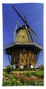 De Zwaan Windmill In Holland Beach Towel