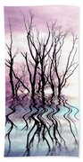 Dead Trees Colored Version Beach Towel