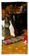Dealer In Las Vegas Casino Beach Towel