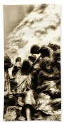 Death In The Time Of The Irish Famine Beach Towel