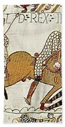 Death Of Harold, Bayeux Tapestry Beach Towel